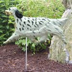 English Setter Garden Stake Sign Tri Color