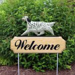 English Setter Outdoor Welcome Garden Sign Tri Color