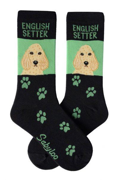 english-setter-socks-green