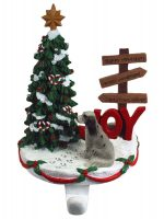 English Setter Stocking Holder Hanger Blue