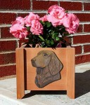 Flat Coated Retriever Planter Flower Pot Liver