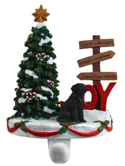 Flat Coated Retriever Stocking Holder Hanger