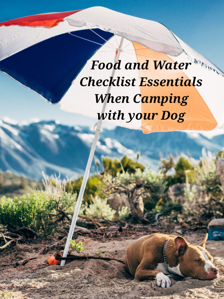 Food and Water Checklist