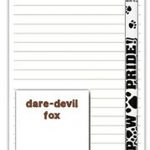 Fox Terrier Dog Notepads To Do List Pad Pencil Gift Set 1