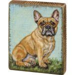 French Bulldog Art Block