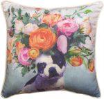 French Bulldog Bloom Pillow