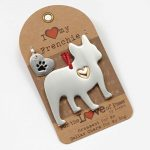 French Bulldog Holiday Ornament & Collar Charm Set