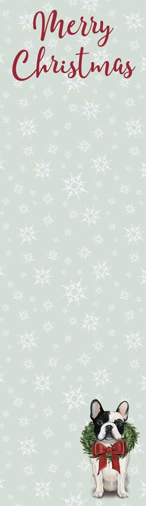 Merry Christmas French Bulldog List Pad