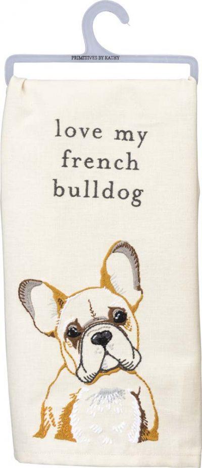 French Bulldog Kitchen Dish Towel By Kathy