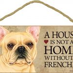 French Bulldog Wood Dog Sign Wall Plaque 5 x 10 + Bonus Coaster 1