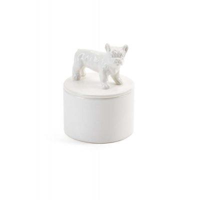 French Bulldog Jewelry Box Porcelain 1