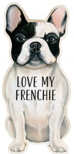 French Bulldog Shaped Magnet By Kathy Black & White