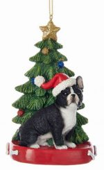 French Bulldog Christmas Tree Ornament
