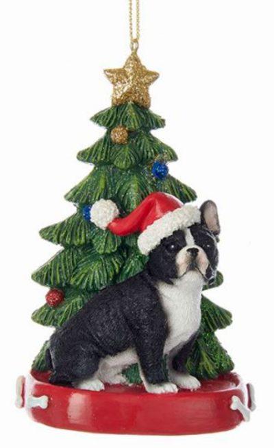 French Bulldog Christmas Tree Ornament 1