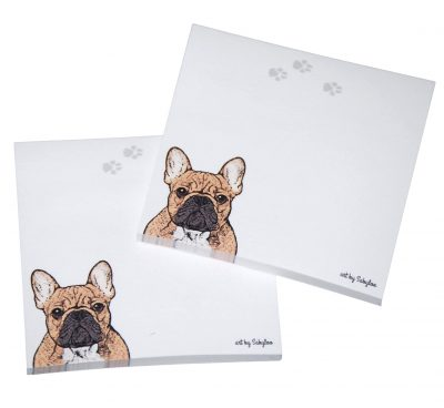French Bulldog Post It Sticky Notes Notepad Fawn