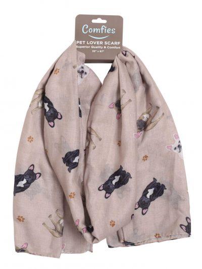 French Bulldog Scarf -Lightweight Cotton Polyester