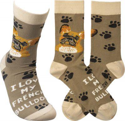 I Love My French Bulldog Socks By Kathy