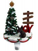 French Bulldog Stocking Holder Hanger Brindle