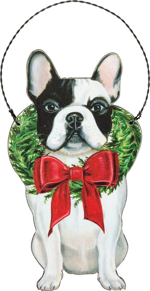 French Bulldog Wood Ornament