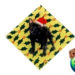 French Bulldog Dog Crystal Glass Holiday Christmas Ornament Brindle 1
