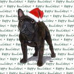French Bulldog Dog Coasters Christmas Themed Brindle