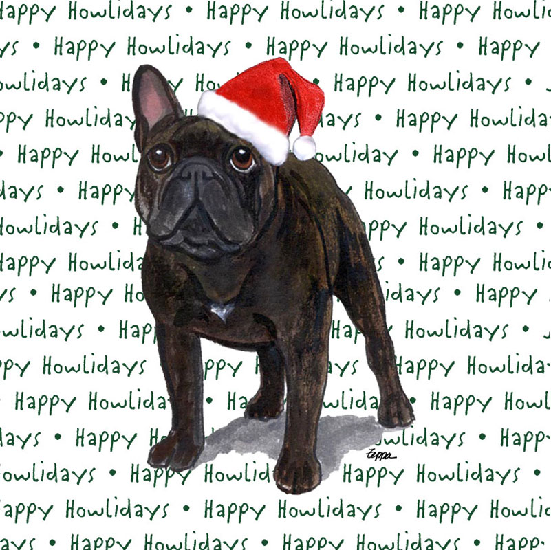 French Bulldog Coasters Christmas Themed Brindle -