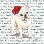 French Bulldog Dog Coasters Christmas Themed Fawn