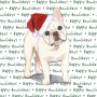 French Bulldog Dog Coasters Christmas Themed Fawn 1