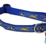 French Bulldog Dog Breed Adjustable Nylon Collar Medium 11-19″ Blue 1