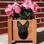 German Shepherd Planter Flower Pot Black 1