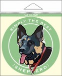German Shepherd Car Magnet 4x4""