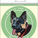 German Shepherd Car Magnet 4×4″ 1