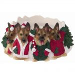 German Shepherd Holiday Candle Topper Ring 1