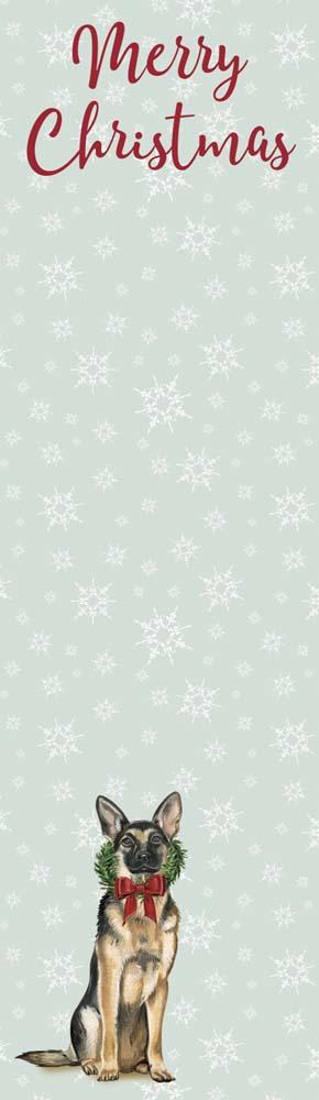 Merry Christmas German Shepherd List Pad