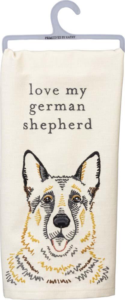 German Shepherd Kitchen Dish Towel By Kathy