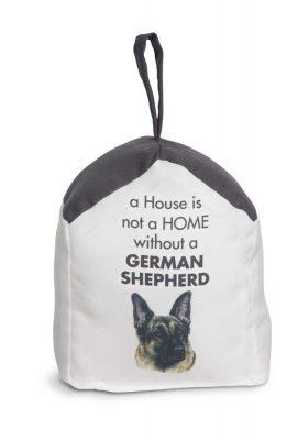 German Shepherd Door Stopper 5 X 6 In. 2 lbs. - A House is Not a Home