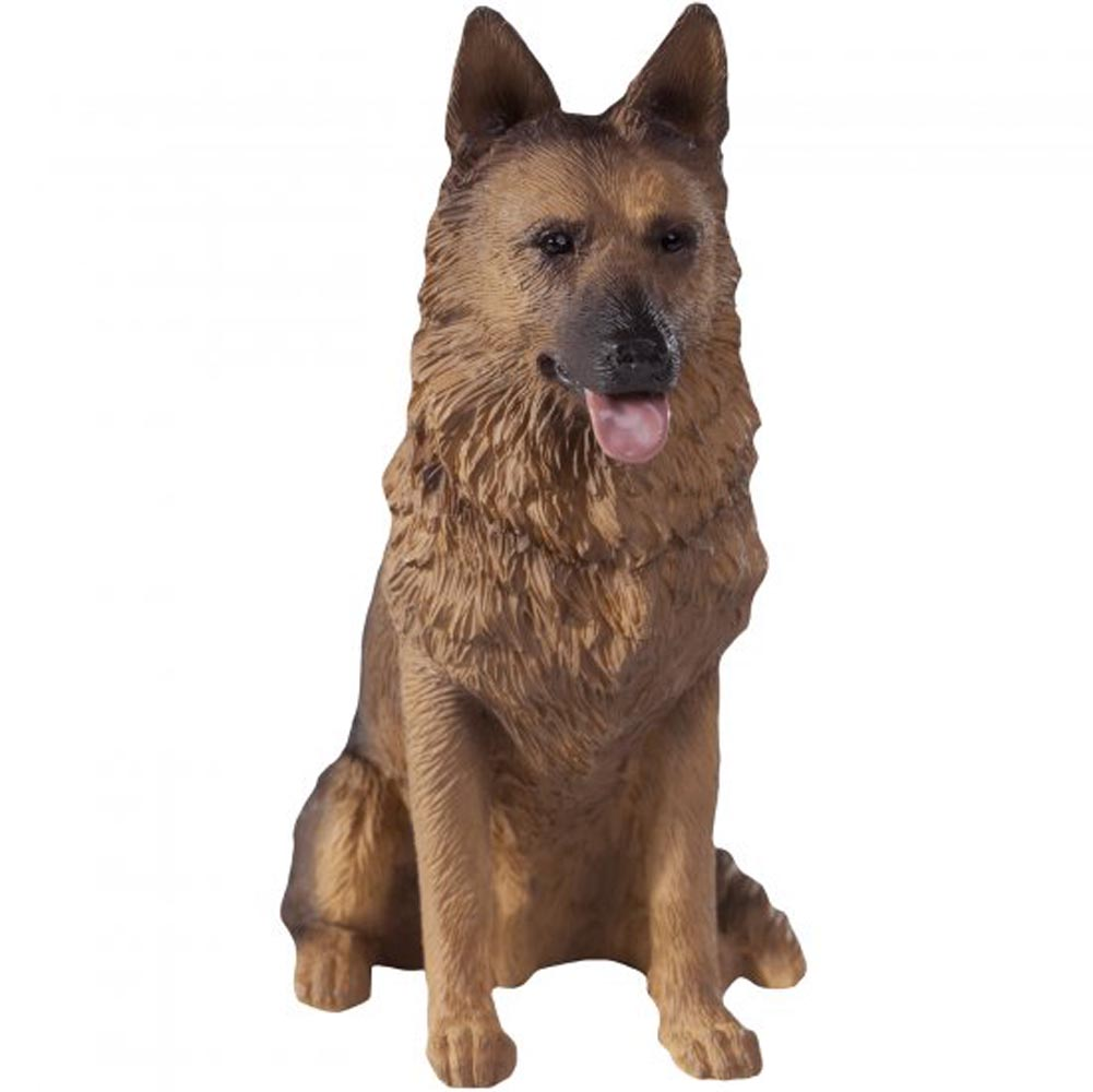 German Shepherd Figurine Hand Painted - Sandicast