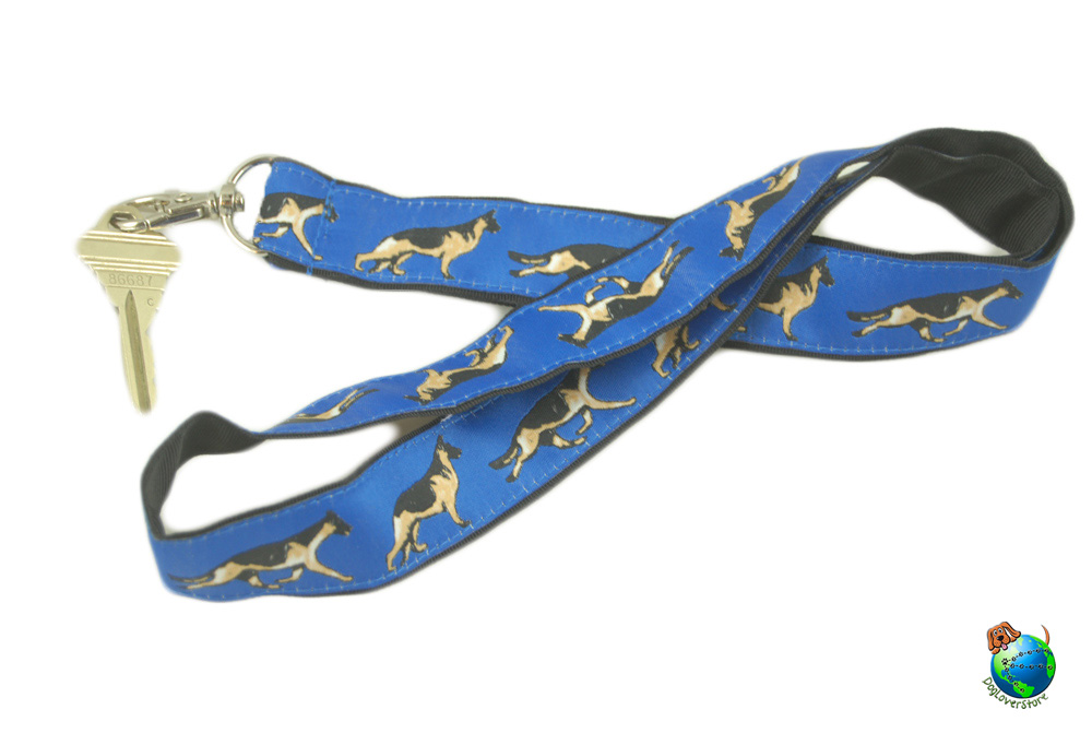 German Shepherd Lanyard Key Holder Badge Holder