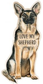 German Shepherd Shaped Magnet By Kathy