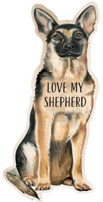 German Shepherd Shaped Magnet By Kathy