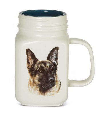 German Shepherd 21 Oz. Ceramic Mug Mason Jar - All You Need Is Love