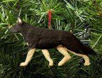 German Shepherd Ornament Black/Tan
