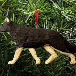 German Shepherd Ornament Black/Tan 1