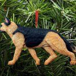 German Shepherd Ornament Gold 1