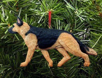 German Shepherd Ornament Gold