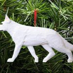 German Shepherd Ornament White 1