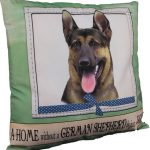 German Shepherd Pillow 16×16 Polyester 1