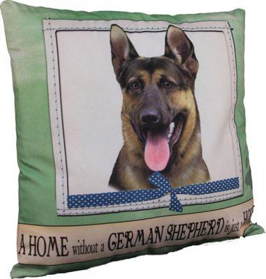 German Shepherd Pillow 16×16 Polyester 1