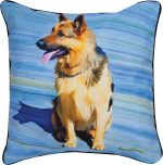 German Shepherd Artistic Throw Pillow 18X18""