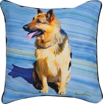 "German Shepherd Artistic Throw Pillow 18X18"""